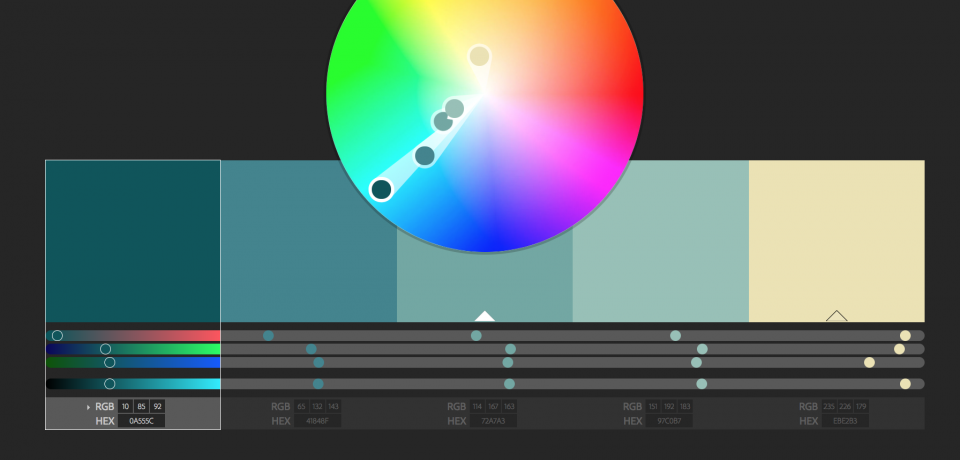 Risorse visuali: palette di Adobe